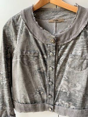 Bottega Chaqueta estilo camisa color plata-gris claro