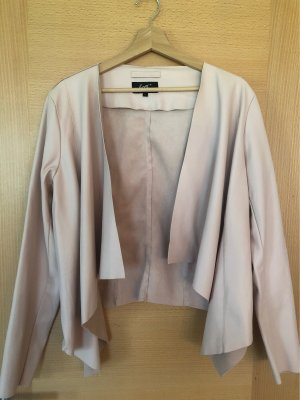 Forever Blazer en cuir or rose