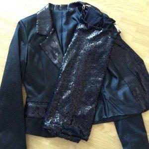 Boutique Ware Blazer corto nero Tessuto misto