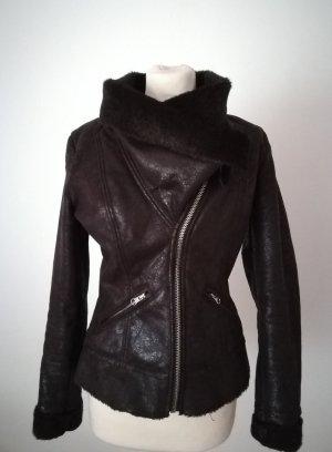 Miss Sixty Fake Fur Jacket dark brown