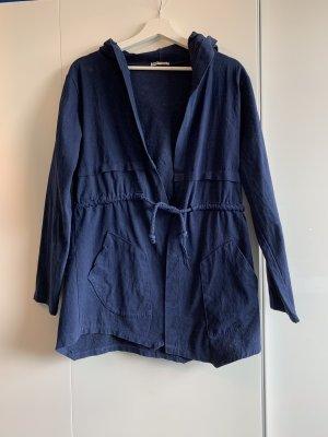 Made in Italy Chaqueta estilo naval azul oscuro