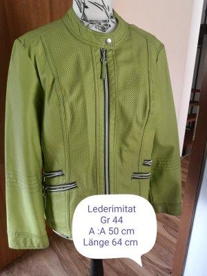 Canda Faux Leather Jacket meadow green
