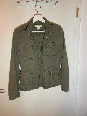 H&M Denim Jacket olive green-khaki