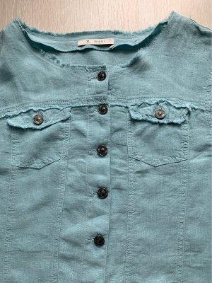 Monari Giacca a blusa azzurro Lino