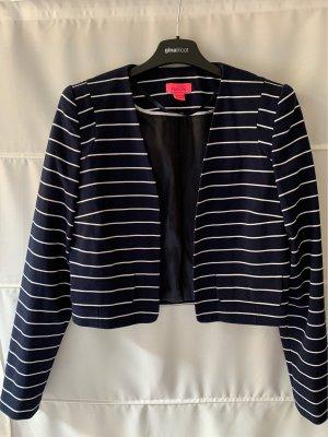 Monsoon Short Jacket white-dark blue polyester