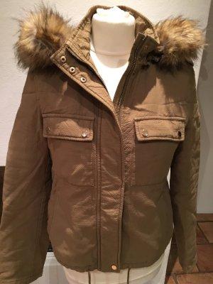 Zara Trafaluc Outdoor jack khaki-goud Katoen