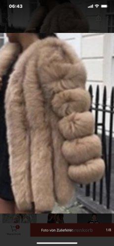 Futrzana kurtka beżowy