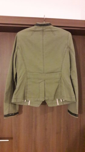 Esprit Giacca militare grigio-verde Cotone