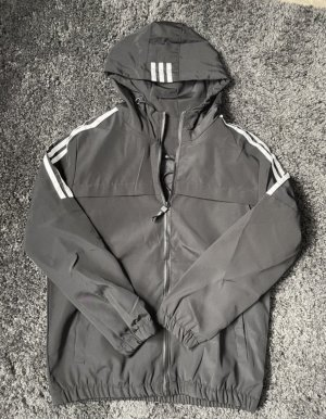 Adidas Giacca con cappuccio nero-bianco