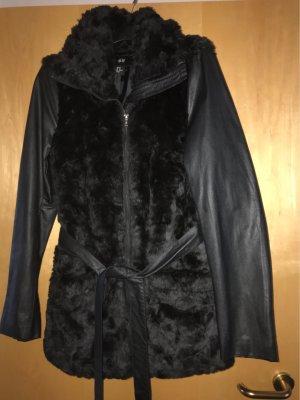 H&M Kurtka ze sztucznym futrem czarny