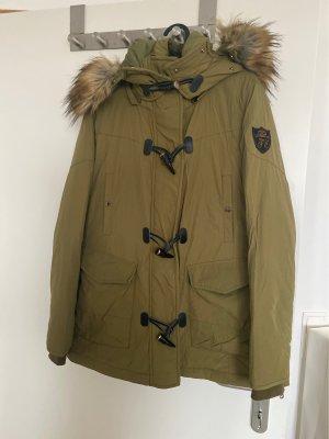 Zara Giacca militare grigio-verde-cachi