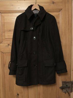 Cinque Veste en laine brun noir
