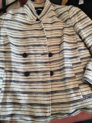Promod Blazer en tweed blanc cassé