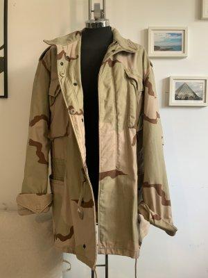 Lost & Distorted Kurtka oversize kremowy Tkanina z mieszanych włókien