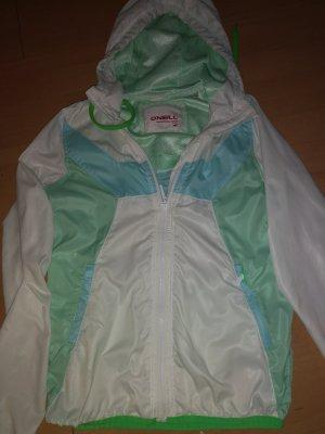 Softshelljack wit-lichtgroen Polyester