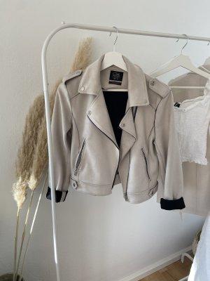 basics clockhouse Faux Leather Jacket oatmeal-natural white