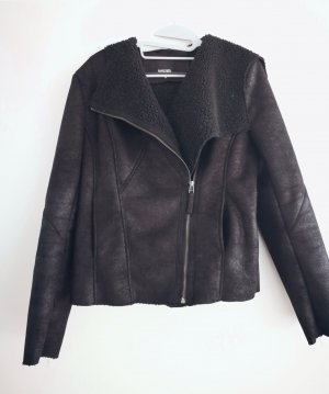Montgomery Faux Leather Jacket black