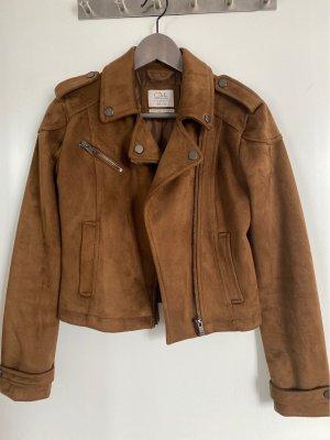 Ckh clockhouse Faux Leather Jacket brown