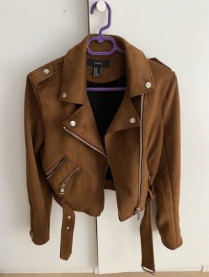 Forever 21 Faux Leather Jacket multicolored