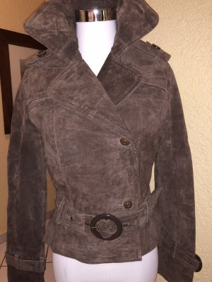 5th Avenue Leather Jacket grey brown