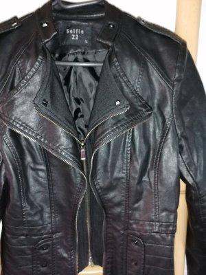 Selfie22 Veste en cuir synthétique noir