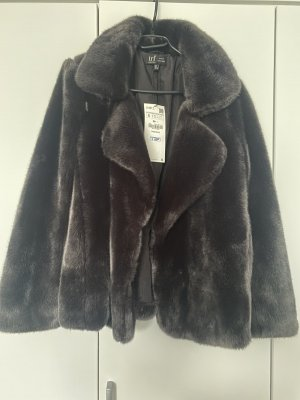 Zara Trafaluc Fake Fur Jacket anthracite