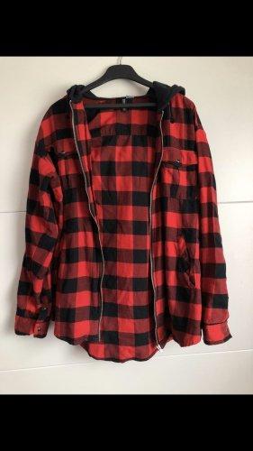 H&M Lang jack zwart-rood