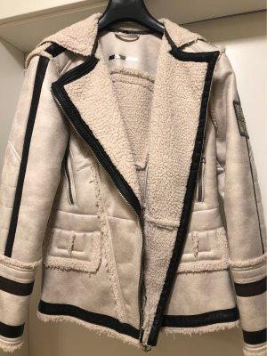 Sportalm Fur Jacket natural white-black brown