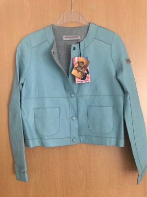 Frieda & Freddies New York Leather Jacket cadet blue leather