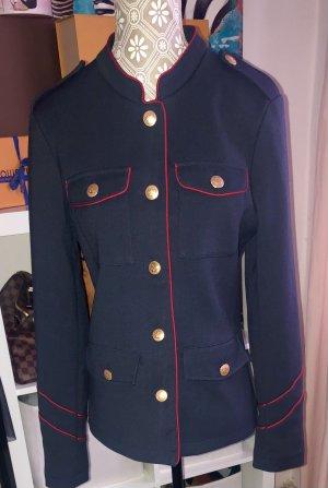 Clockhouse Veste de marin bleu foncé-rouge foncé