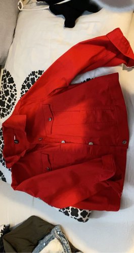 H&M Long Jacket red
