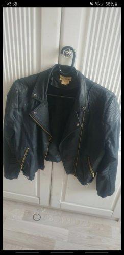 H&M Waxed Jacket black