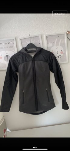 North Face Raincoat black-grey