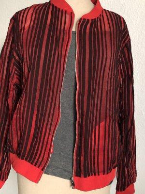 Zara Blusón rojo-negro