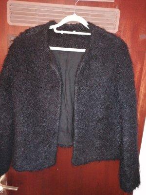 Mango Wełniany sweter czarny