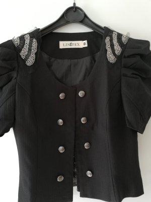 100% Fashion Krótka kurtka czarny