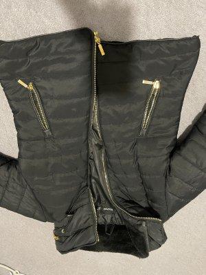 Boohoo Fleece Jackets black