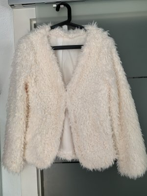 Vila Clothes Fake Fur Jacket natural white