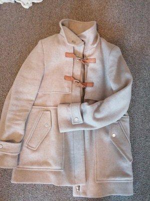 Zara Woman Długa kurtka jasnobrązowy