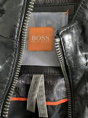 Boss Orange Veste en cuir noir