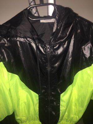 Regenjas zwart-neongeel