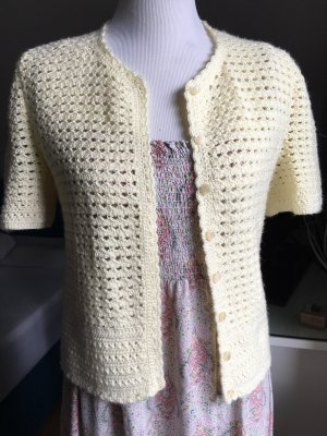 Coarse Knitted Jacket pale yellow