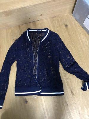 Colloseum Veste chemisier blanc-bleu