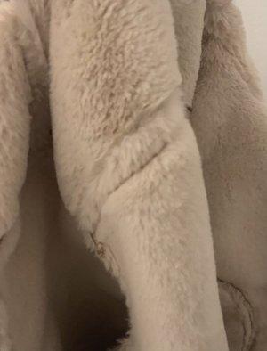 Devided von H&M Veste en fourrure beige-blanc