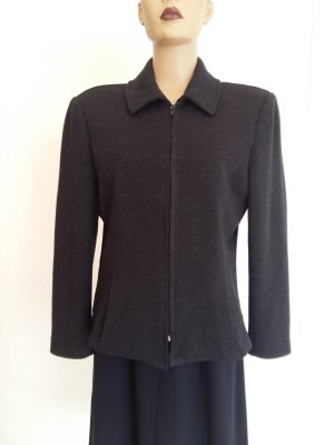 Burberrys' Long Blazer anthracite wool