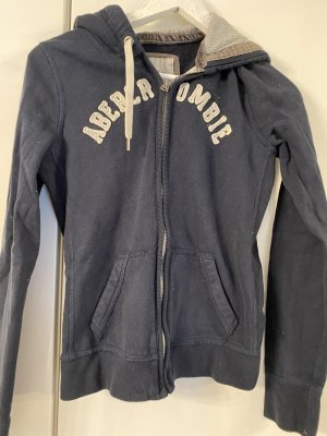 Abercrombie & Fitch Capuchon sweater blauw-wit