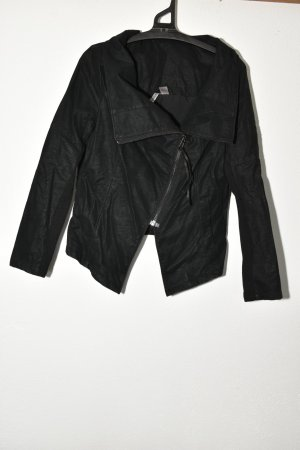 H&M Divided Faux Leather Jacket black
