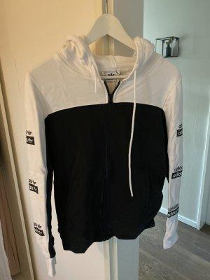 Adidas Top à capuche blanc-noir coton