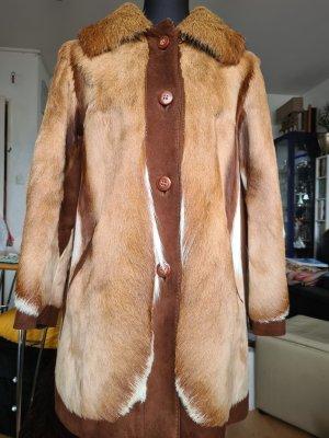 Jacke aus echtem Ziegenfell