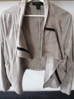 Amisu Faux Leather Jacket light grey